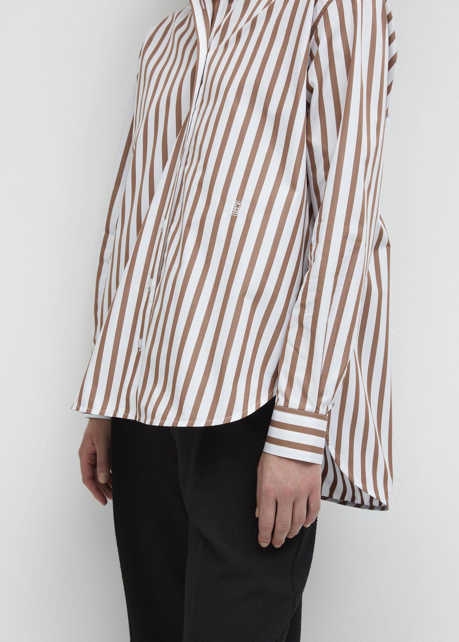 Capri shirt rust stripe - Totême
